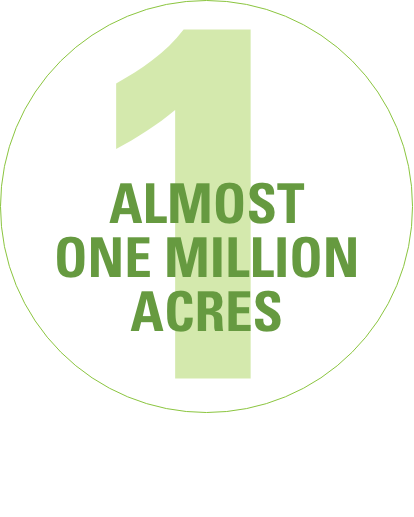 Almost one million acres