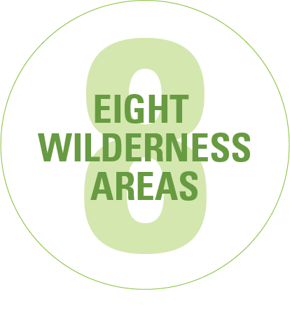 Eight wilderness areas