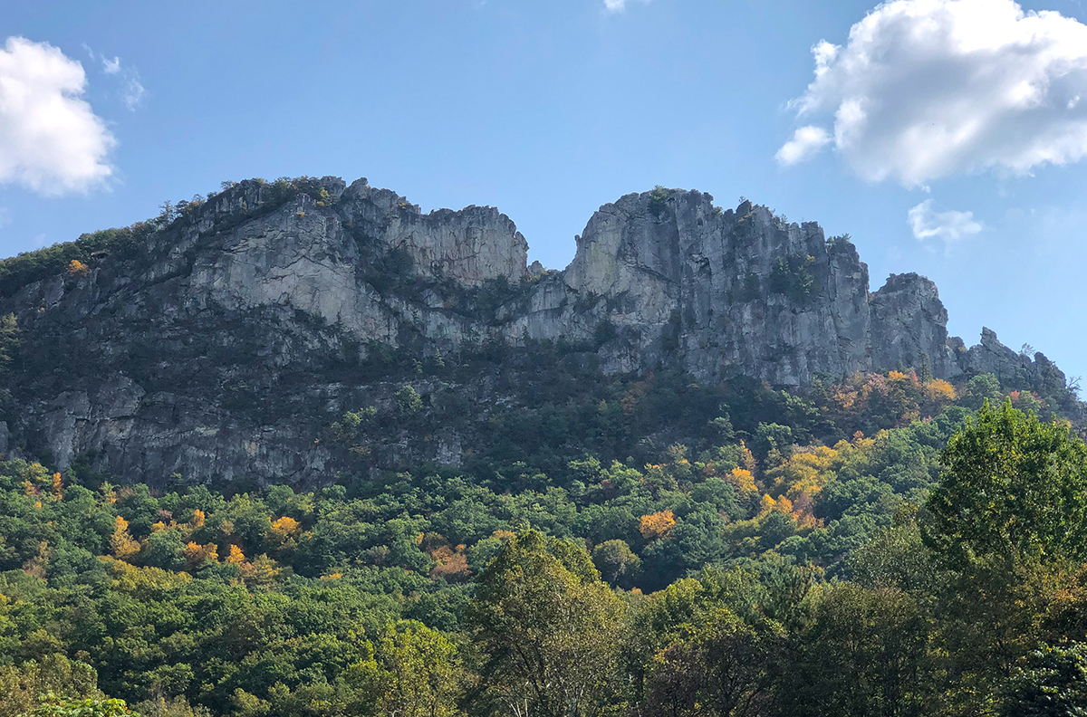 View of Seneca Rocks during the day