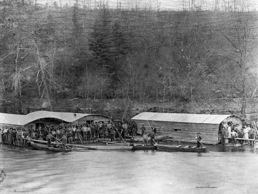 The Greenbrier River served as a historically important timber transportation route.
