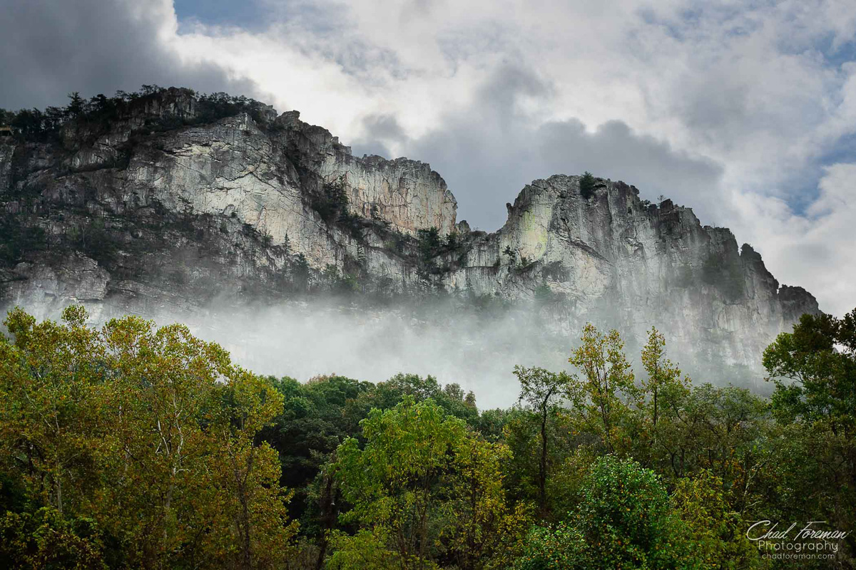 With rocks towering nearly 900 feet above the North Fork River, Seneca Rocks is a popular destination for hikers, climbers, and more.
